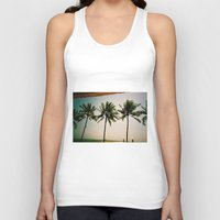 indonesia Tank Tops featuring La Luciola palms, Bali, Indonesia  by Kim Barton