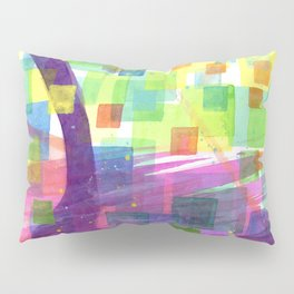 Bend and Squares Pillow Sham