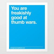 Thumb Wars Art Print