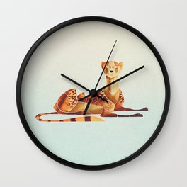 Cheetah 2 Wall Clock