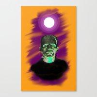 frankenstein Canvas Prints featuring Frankenstein  by JT Digital Art