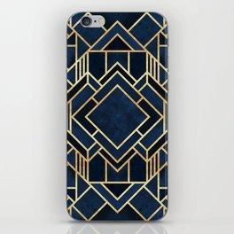Art Deco Fancy Blue iPhone Skin