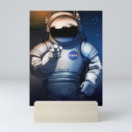 NASA Wants You Vintage Poster from 70s Moon Astronaut Artwork For Prints Posters Tshirts Bags Men Wo Mini Art Print