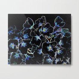 FLOWERS AT MIDNIGHT Metal Print
