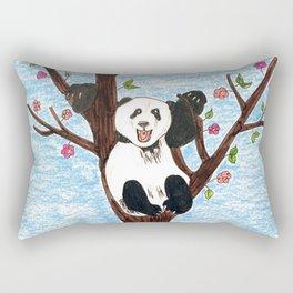 Panda on tree Rectangular Pillow