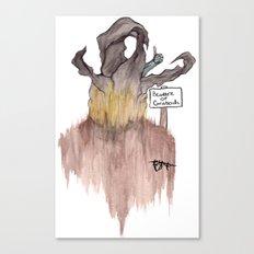 Beware of Graboids! Canvas Print