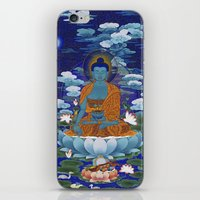 medicine iPhone & iPod Skins featuring Medicine Buddha by Kalsang Dawa