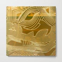 Symphony of Golden Sky Metal Print