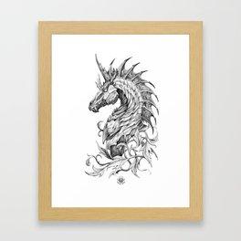 Dark Side Unicorn Framed Art Print