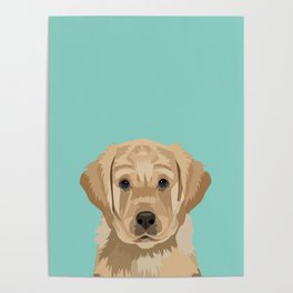 Labrador puppy pet portrait wall art and gifts for dog breed lovers Poster