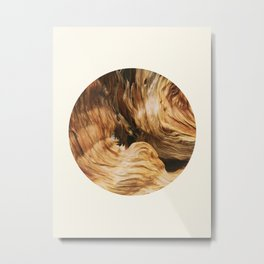 Abstract Wood Design Metal Print