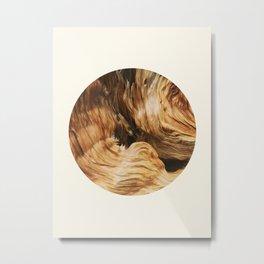 Abstract Wood Design Metal Print