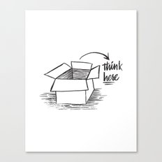 think here Canvas Print