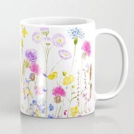 colorful meadow painting Coffee Mug