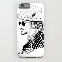 Johnny Depp with sun-glasses iPhone Case