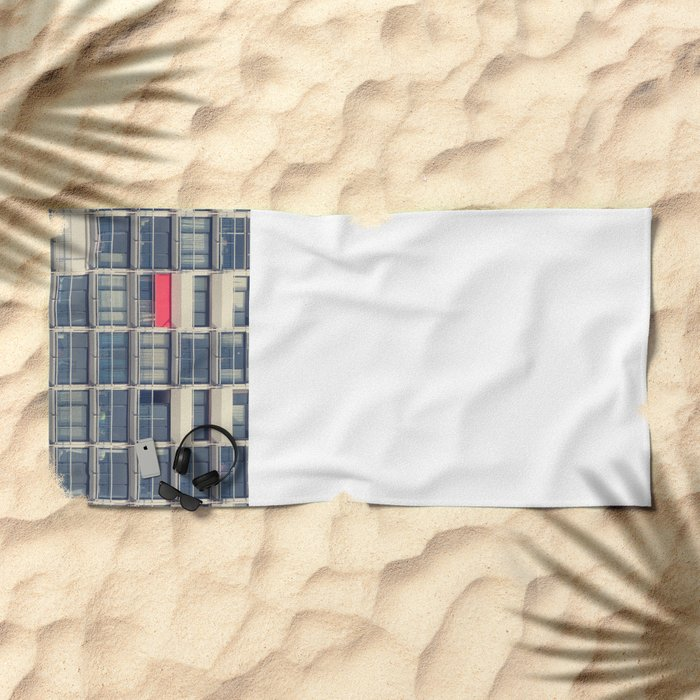 Red Awning Beach Towel