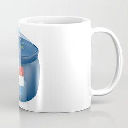 Flag of Croatia. Saucepan with a translucent cover. The symbol of the European Union. Coffee Mug