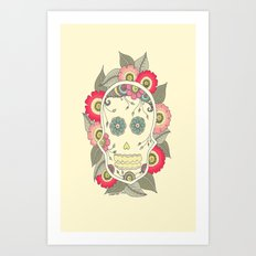 ColoredSkull Art Print