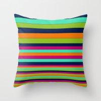 stripe Throw Pillows featuring Stripe by Aimee St Hill