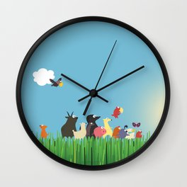 What's going on the farm? Kids collection Wall Clock