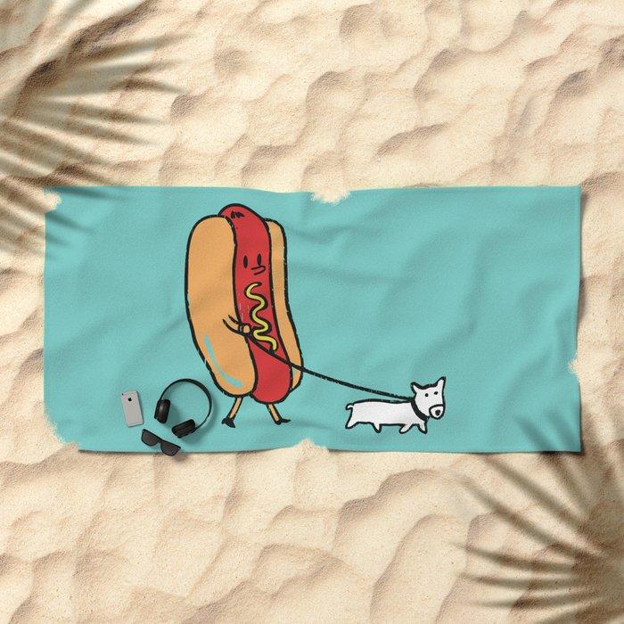 Double Dog Beach Towel