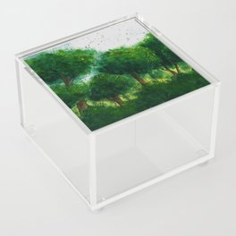watercolor forest Acrylic Box