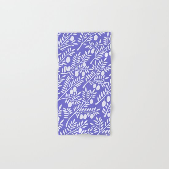 Olive Branches – Periwinkle Hand & Bath Towel