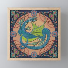 Celtic Medieval Water Dragon Framed Mini Art Print