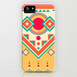 Colorful Ethnic Bohemian Pattern iPhone Case