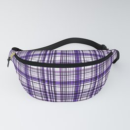 Purple and white plaid Fanny Pack