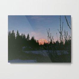Mirror Lake Sunset (Mt. Hood) Metal Print