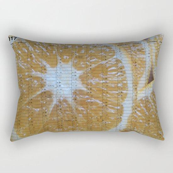 Kalender 2017 Orange Rectangular Pillow