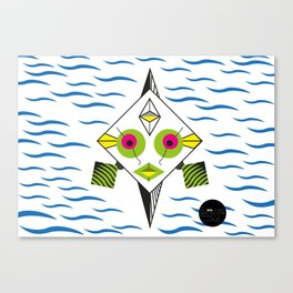 Postmodern Fish Canvas Print