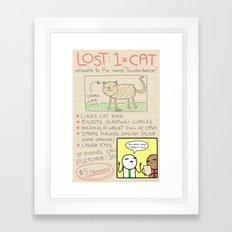 Antics #366 - here kitty kitty Framed Art Print