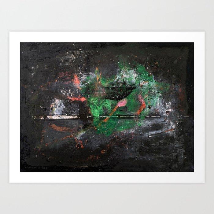 Sasamaki (oil on canvas) Art Print