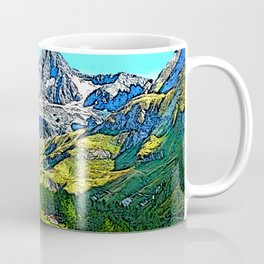"Austria - drawing ""Großglockner"" Coffee Mug"