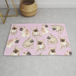 Frenchies: French Bulldog Puppies Pattern Rug