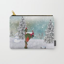 Seasons Mailbox Winter Carry-All Pouch