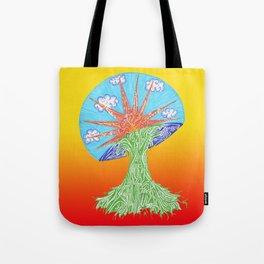Sunrise Mushroom Tote Bag