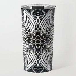 Flower Mandala in the Stars Travel Mug