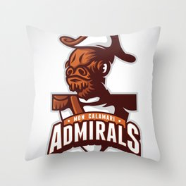 Mon Calamari Admirals Throw Pillow