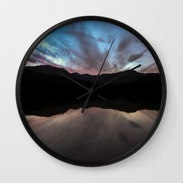 Lost Lake Sun Set Wall Clock
