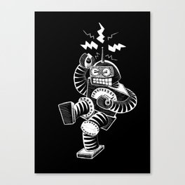 ELECTRIC! (Air-Guitaring Robot) Canvas Print