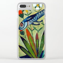 The Leap of the Rabbit by Amadeo de Souza Cardoso Portuguese Colorful Expressionism Clear iPhone Case