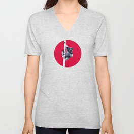 Indri indri sitting in the tree Unisex V-Neck