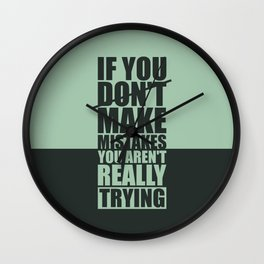 Lab No. 4 - If You Do Not Make Mistakes Gym Motivational, Inspirational Quotes Poster Wall Clock