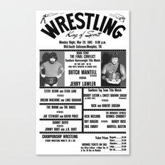 #16 Memphis Wrestling Window Card Canvas Print