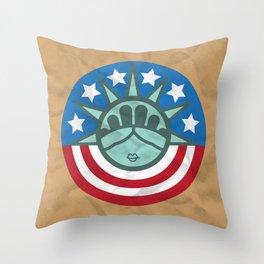 LIBERTY PAPER BAG Throw Pillow