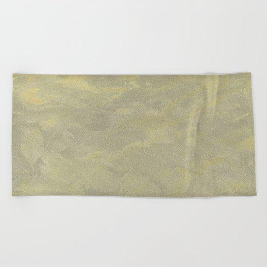 Modern Masters Metallic Plaster - Aged Gold and Silver Fox - Custom Glam Beach Towel