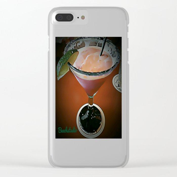 Raspberry Margarita Clear iPhone Case